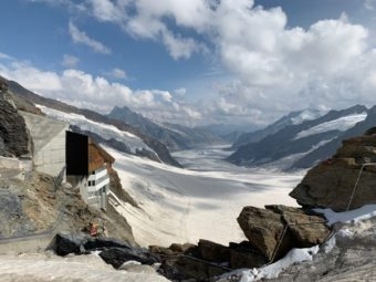 Aletsch glacier seen from Jungfraujoch Observatory