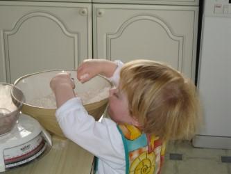 flour in