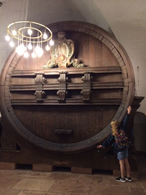 enormous wine barrel