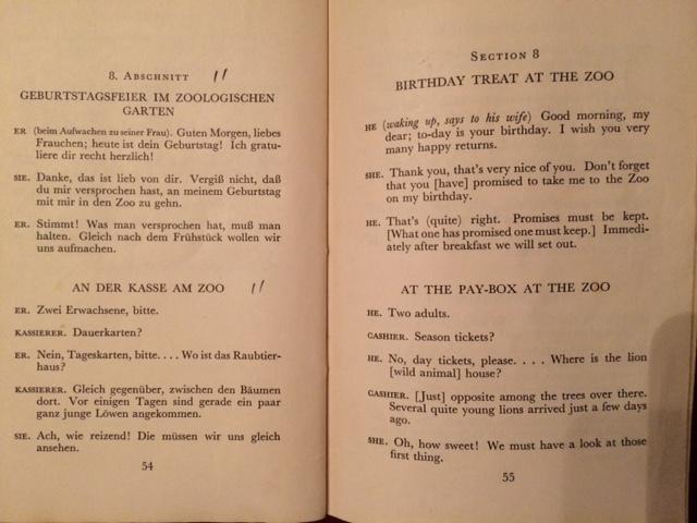 1933 phrasebook zoo