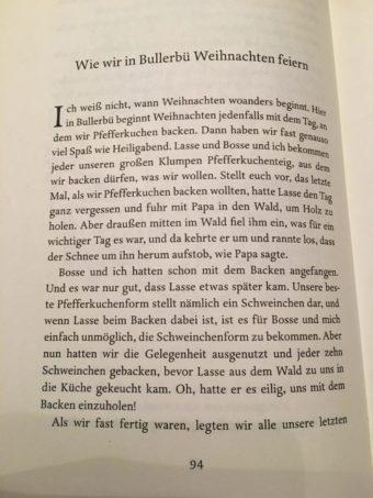 Bullerbue text inside book