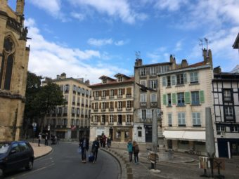 bayonne cathedral and houses