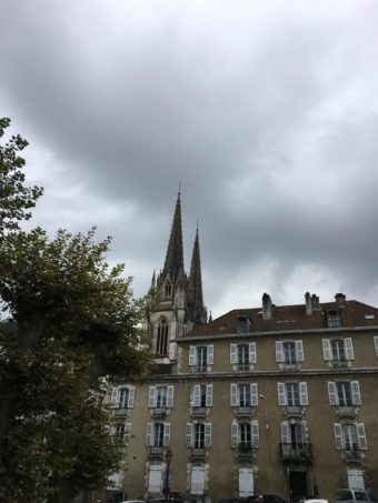 Bayonne houses and spires