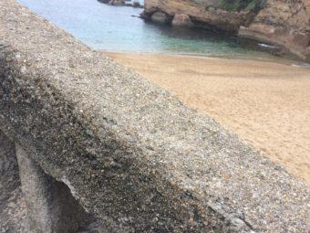 Biarritz wall close up