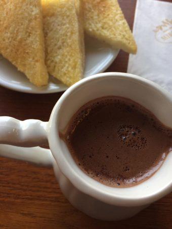 Biarritz Miramont chocolate and toast