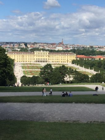 View of Schoenbrunn Palace from the Gloriette