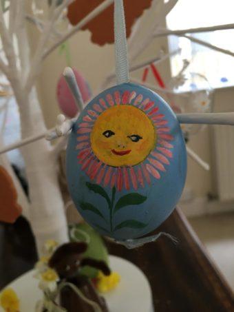 Austrian painted egg